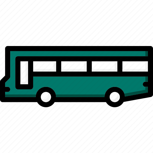 bus, colour, transport, ultra icon
