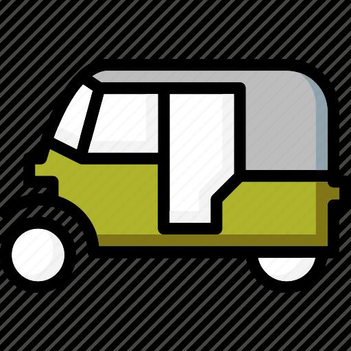 colour, transport, tuk, ultra icon