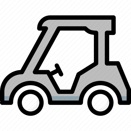 cart, colour, golf, transport, ultra icon