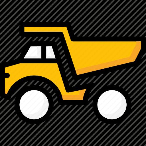 colour, dumper, transport, truck, ultra icon