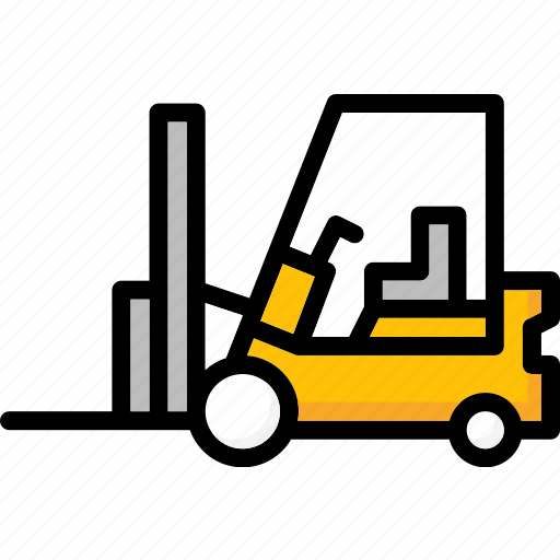 colour, forklift, transport, ultra icon