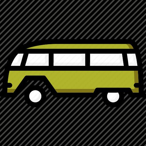 camper, colour, transport, ultra, van icon