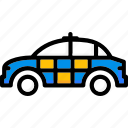 car, colour, police, transport, ultra icon