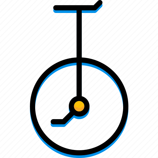colour, transport, ultra, unicycle icon