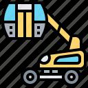 basket, crane, hydraulic, lift, truck