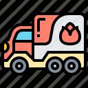 emergency, fire, firefighter, service, truck