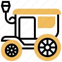 antique, carriage, horses, vintage, wagon