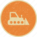 bull dozer, heavy machinery, machine icon
