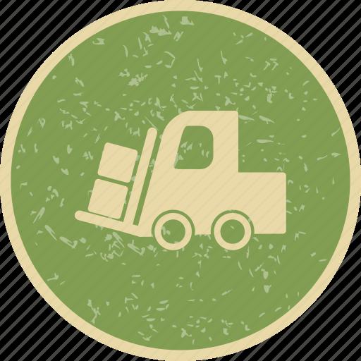 cargo, loader, machine icon