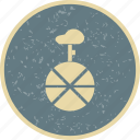 acrobat, circus, uni cycle, wheel icon
