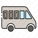 automobile, bus, car, transport