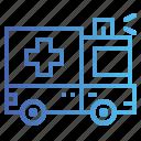 ambulance, emergency, medical, transportation icon