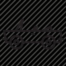 car, convertible, transportation icon