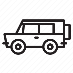 off-road, suv, transportation icon