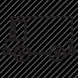 delivery, transportation, van icon