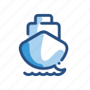 ship, transport, transportation, vehicle, water icon
