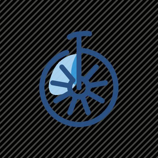 transport, transportation, unicycle, vehicle icon