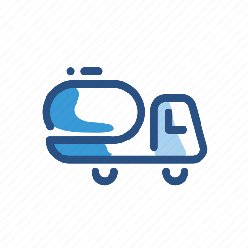 transport, transportation, truck, water icon