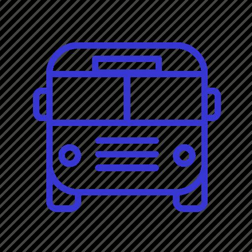 bus, tourism, transport, transportation, travel, vacation, vehicle icon