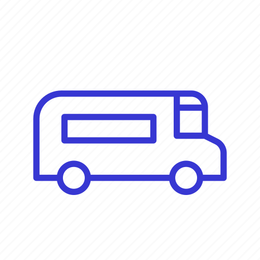 Transportation, food truck, delivery, truck, logistic, vehicle icon