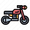 biker, motorbike, motorcycle, transport icon