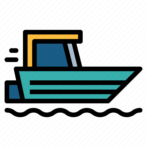 boat, ship, speed, transport icon