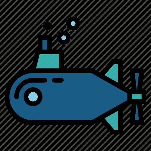 nautic, ocean, sea, submarine, the, under icon