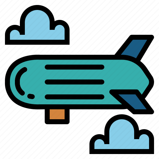 aircraft, flying, transport, zeppelin icon