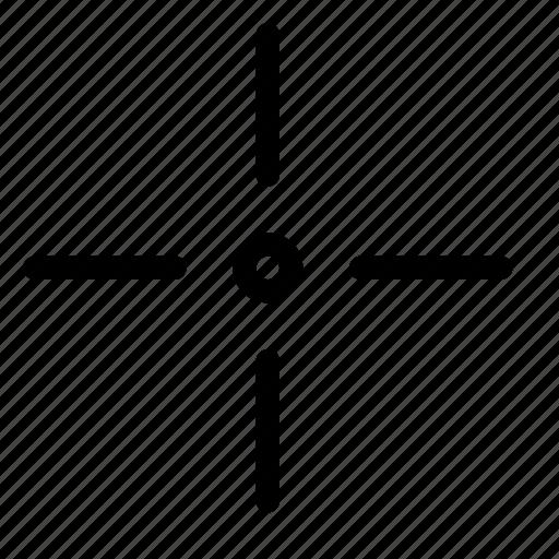 cross, crosshair, cursor, hair, location, select, target icon