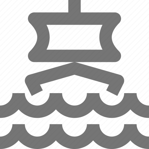 boat, sail, transportation, travel, vehicle, water, waves icon