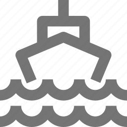 boat, ship, transportation, waves icon