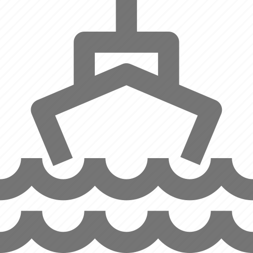 boat, sail, sea, ship, transportation, vehicle, waves icon