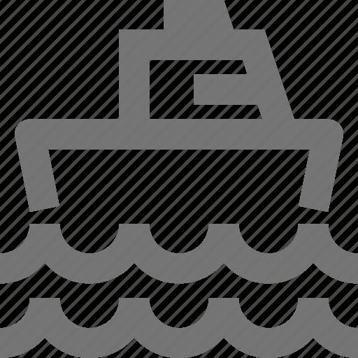 boat, sail, ship, transportation, vehicle, water, waves icon