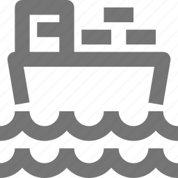 boat, ship, shipping, transportation, waves icon