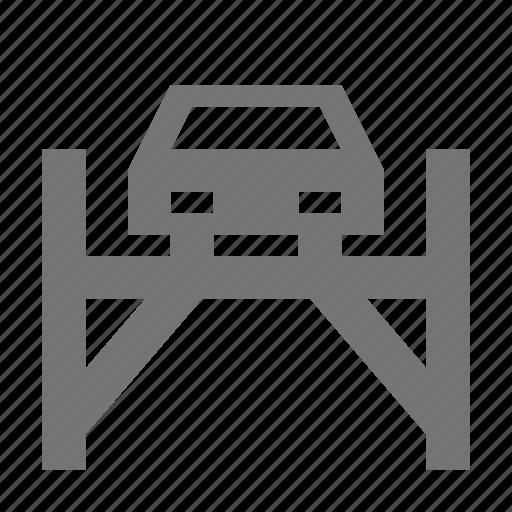 automobile, bridge, car, drive, lift, transportation, travel, vehicle icon