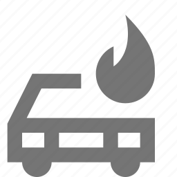 automobile, car, drive, fire, flame, transportation, travel, vehicle icon