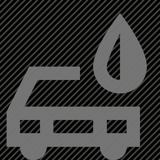 car, fuel, gas, petrol, transportation, water icon