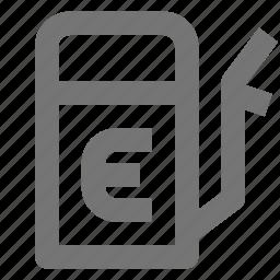 empty, energy, fuel, gas, power, pump, tank icon