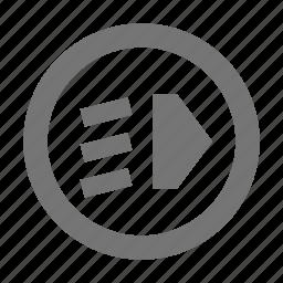 car, headlight, ight icon