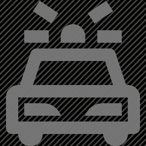 car, police, siren, transportation icon