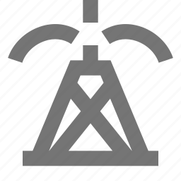 oil, oil rig, oil well, pump icon
