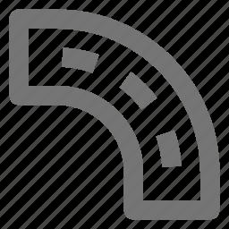 curve, road, street, turn icon