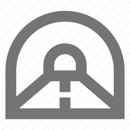 road, street, tunnel icon