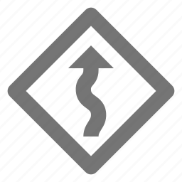 arrow, sign, zig zag icon