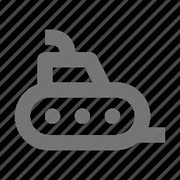 drive, marine, submarine, travel, underwater, vehicle icon