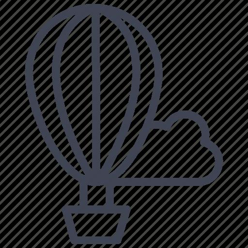air, airballoon, balloon, cloud, hot, transportation icon