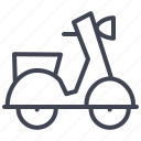 delivery, moped, transport, transportation, vehicle icon