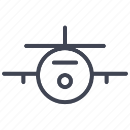 airplane, front, plane, transport, transportation, vehicle icon