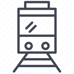 railroad, railway, train, transport, transportation, vehicle icon