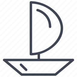 boat, sailing, transport, transportation, vehicle icon